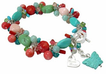 Summer Rio Bracelet of Turquoise & Coral