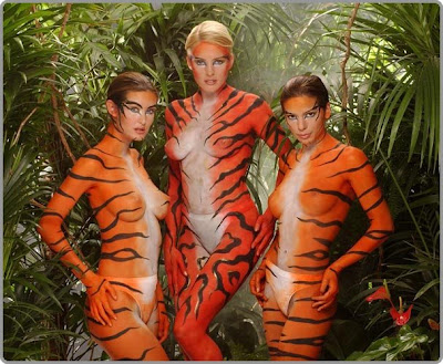 Body Art Temporary - Camouflage Body Painting