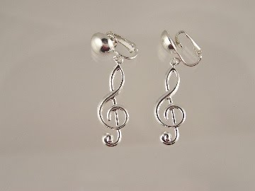 Give The Gift Of Music Note Clip On Earrings