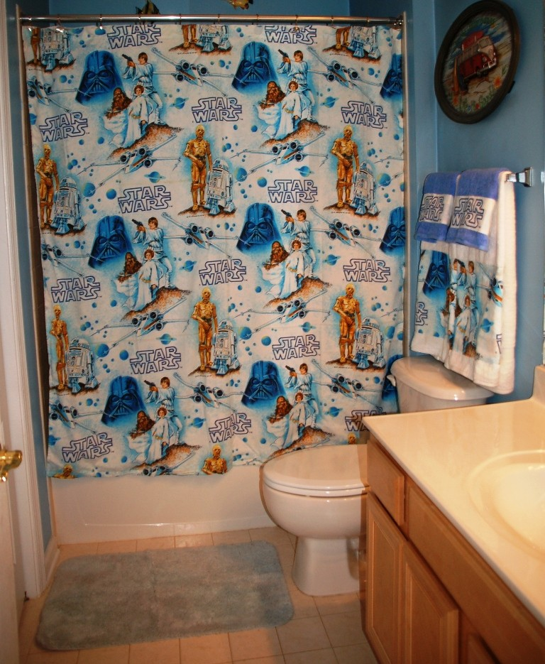 The Greatful Thread Bathroom Set Made with Vintage Star Wars Bed Sheet