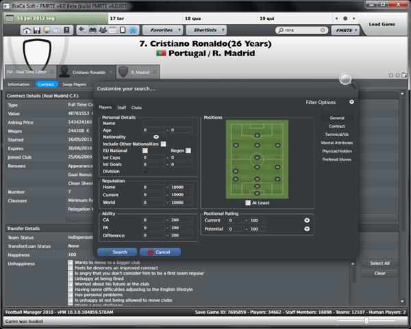 Football Manager Real Time Editor (FMRTE v4 0 111) for