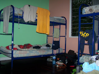 A view of my dorm room at Costa Rica Backpackers Hostel.