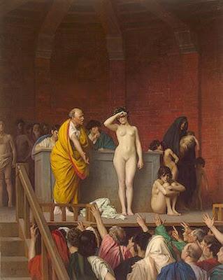 Piata de sclavi in Roma de Jean-Leon Gerome