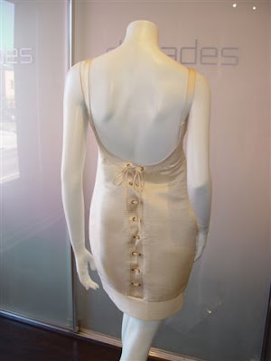 Corset Dress on Gianni Versace Creme Corset Cocktail Dress  C  Early 1990s  Marked