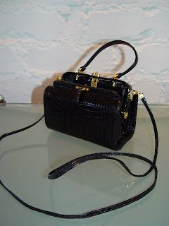 8ea406a52afb Judith Leiber alligator mini doctor s bags. Available in black and brown 5  x 3 1 2 c 80s.SOLD BOTH BROWN AND BLACK
