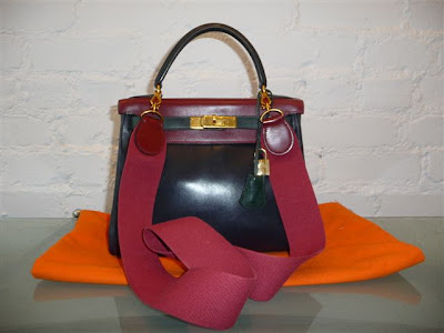 12cbb42e4814 Hermes tricolor 28cm Kelly in rouge H