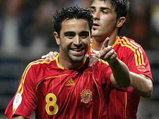 Xavi Hernandez top Spanish footballer