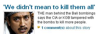 [BaliBombingsNewsSpreadsConspiracy]
