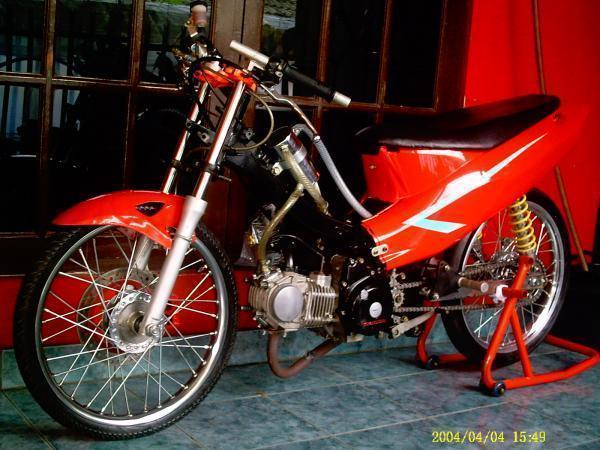 Honda Supra X 125 Drag Style Modifikasi