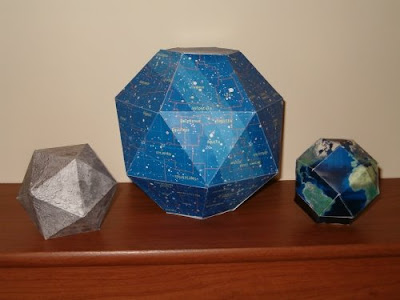 Star Map and Planet 3D Paper Models