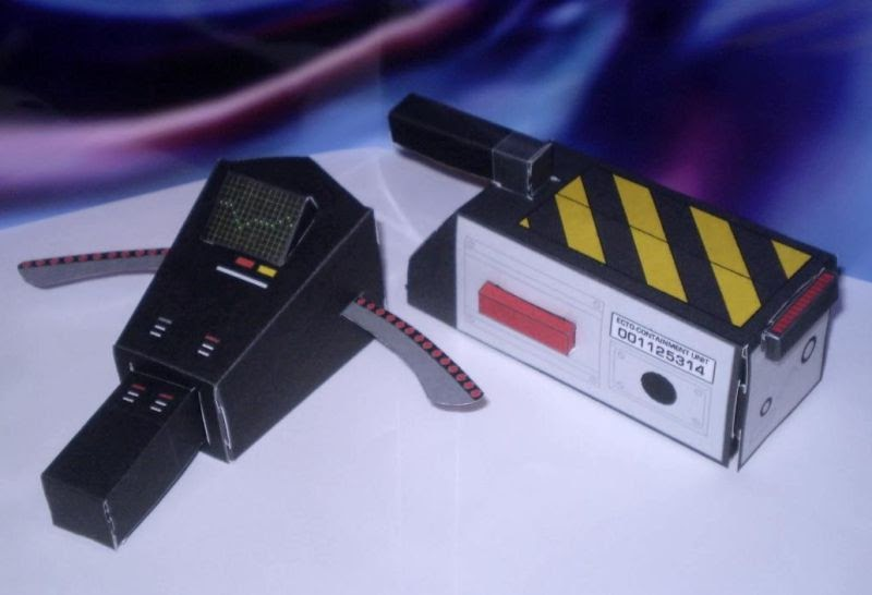 Ghostbusters papercraft pke meter ghost for Trap 2 meter