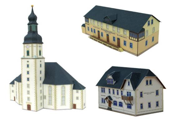 This is a picture of Free Printable Model Buildings regarding 6mm paper