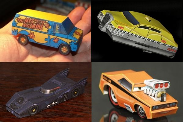 Papercrafter Dave Winfield Has An Amazing Collection Of Hot Wheels Scale Papercraft Cars Available For Download On His Website In Addition To