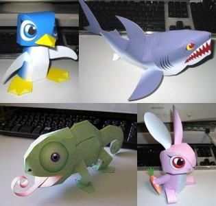 Cute Animal Papercraft