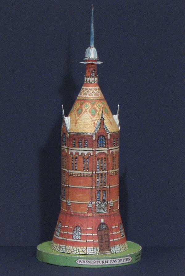 Vienna Water Tower Paper Model