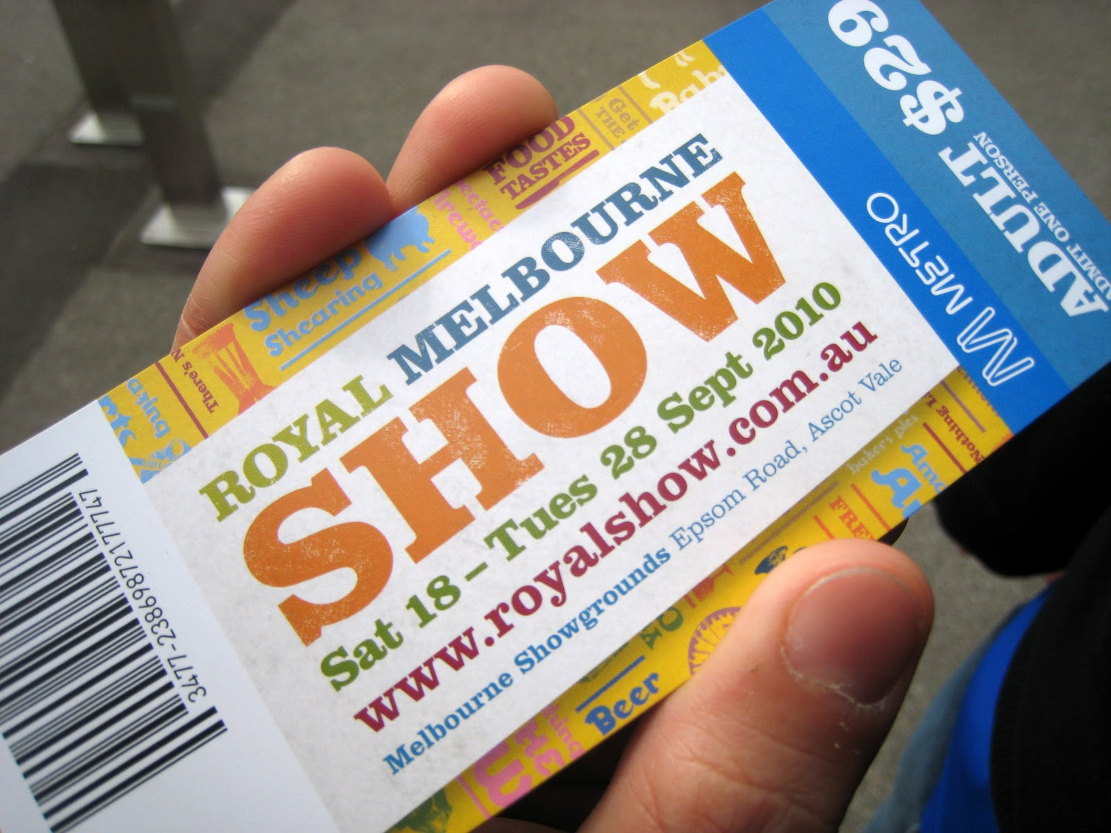royal melbourne show tickets - photo #6