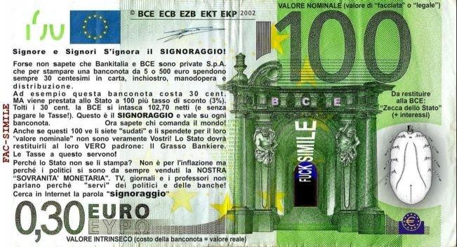 signoraggio e alto tradimento del popolo italiano
