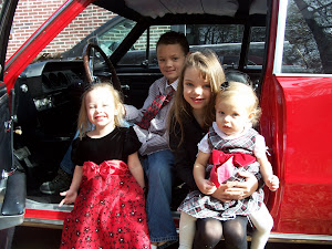 4 of my favorite people in my wonderful Granddad's old car!