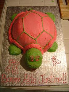 Gateau carapace tortue