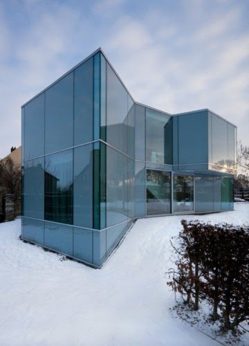 The home architecture modern glass residence h house by wiel arets architects