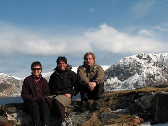 With Sandy and Hans near Harstad