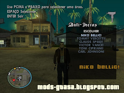 Anti Heros Select para GTA San Andreas