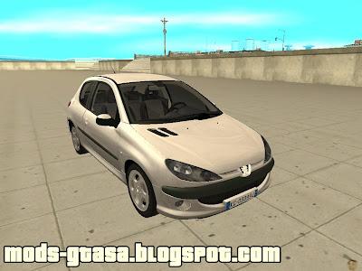 Peugeot 206 HDi 2003 - Mods GTA San Andreas
