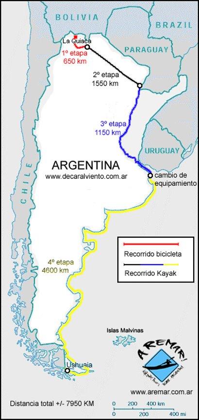 De La Quiaca a Ushuaia.