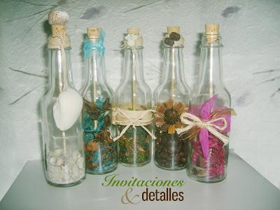 Invitacionesdetalles Un Bello Mensaje Dentro De Una Botella - Invitaciones-de-boda-en-botella