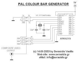 Skema Rangkaian Elektronika-Circuit-Wiring Diagram: PAL Colour Bar  Generator With AT90S2313Skema Rangkaian Elektronika-Circuit-Wiring Diagram - blogger
