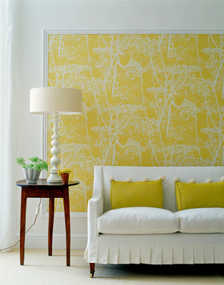 wallpaper yellow and white. An indulgent white backdrop or