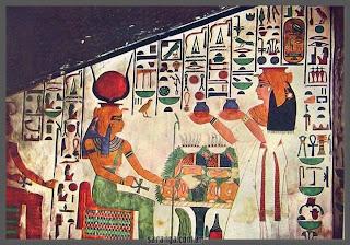 ofrenda a la diosa Hathor