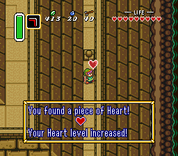 Continue Code: Single Player - The Legend of Zelda: A Link to the Past