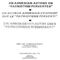 Armenian Author K. S. Papazian's 'Patriotism Perverted, Boston 1934' By Prof. Dr. Turkkaya Ataov