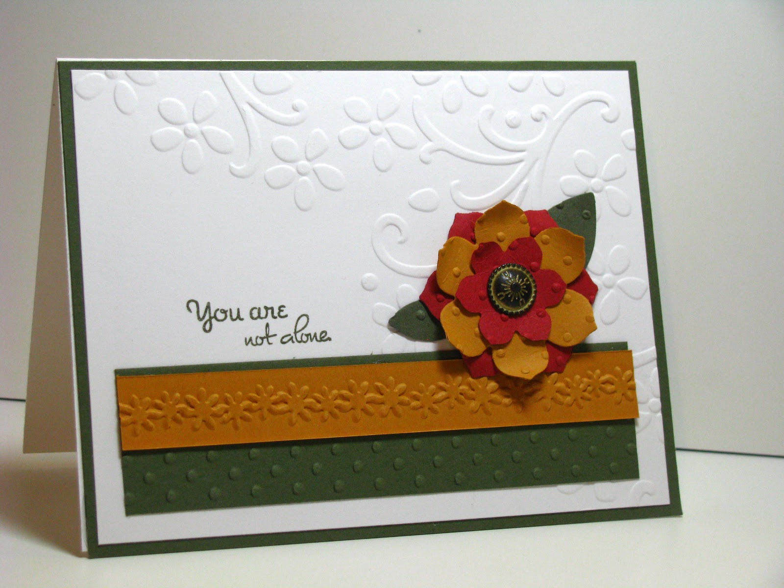 Charming Card Making Ideas With Embossing Folders Part - 13: Emboss On Die Cuts. Folders: Stampinu0027 Up Corner Flowers And Polka Dots,  Cuttlebug Border Folder