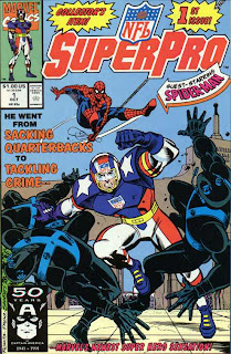 NFL SuperPro #1 Issue One Ron Frenz John Romita Sr. Joe Sinnott Fabian Nicieza Spider-Man Marvel Cover comic book