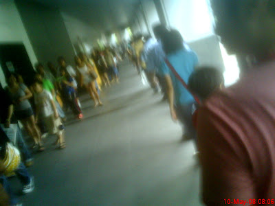 Long Queue at the Immigration & Checkpoints Authority (ICA) of Singapore Building