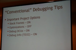 Debugging tips from Delphi 2009 Live!