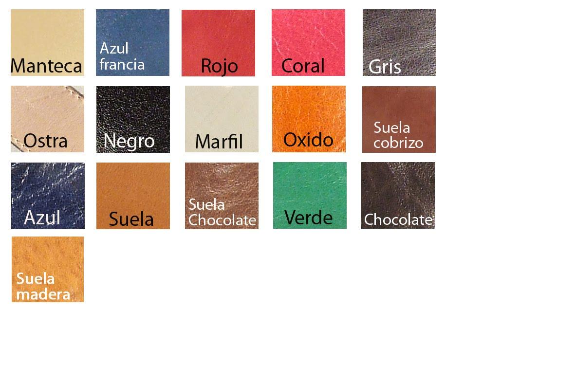 Mels Cartilla de colores de cueros Lnea femenina