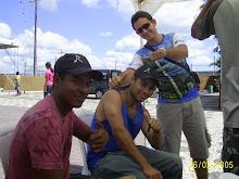 Amigos juntos no Vem Louvar 2008