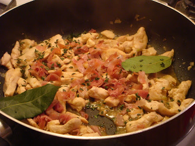 chicken in marsala with prosciutto and herbs
