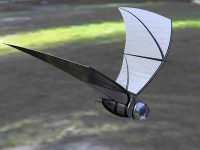 COM-BAT robotic bat 3d rendering