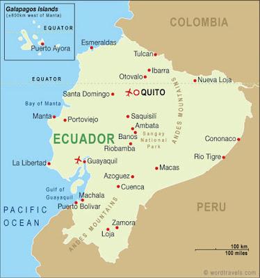 Ecuador On World Map