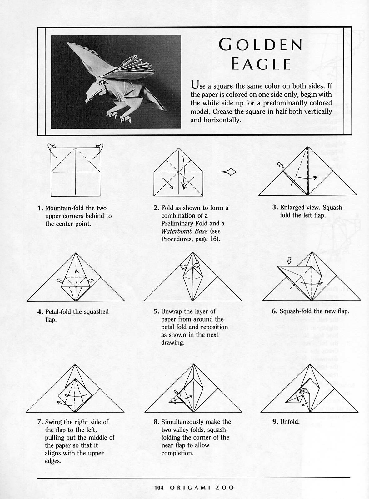 Origami Eagle Instructions Diagram Ge Gas Stove Wiring Onoy Cara Membuat Elang