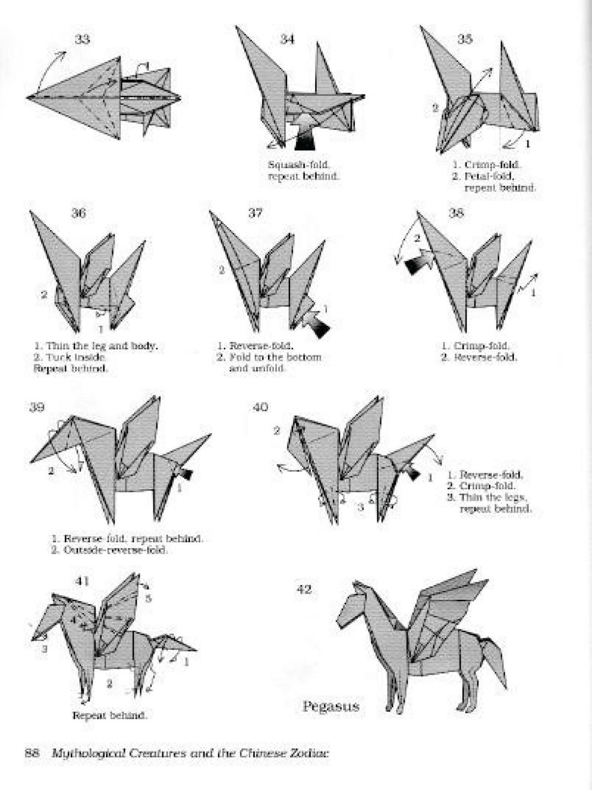 Cara Membuat Origami Pegasus