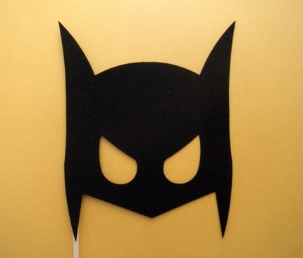 Posh house originals diy costumes simple low cost and for Batman face mask template