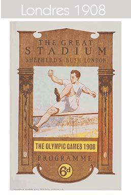 1908 Todos los logos de todas las olimpiadas de la historia