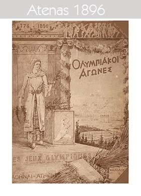 1896 Todos los logos de todas las olimpiadas de la historia