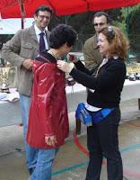 Luisa Conejero recoge su merecida medalla