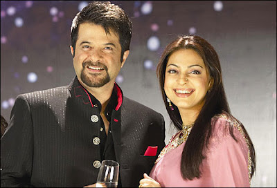Juhi Chawla and Anil Kapoor